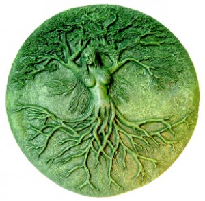 Tree Spirits - a beautiful tree is carved out of stone