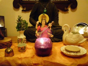house cleansing altar used to clear negative energies from your home