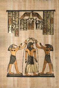 Egyptian image showing cleansing the flesh of evil deities