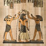 Egytptian image showing cleansing the flesh of evil deities