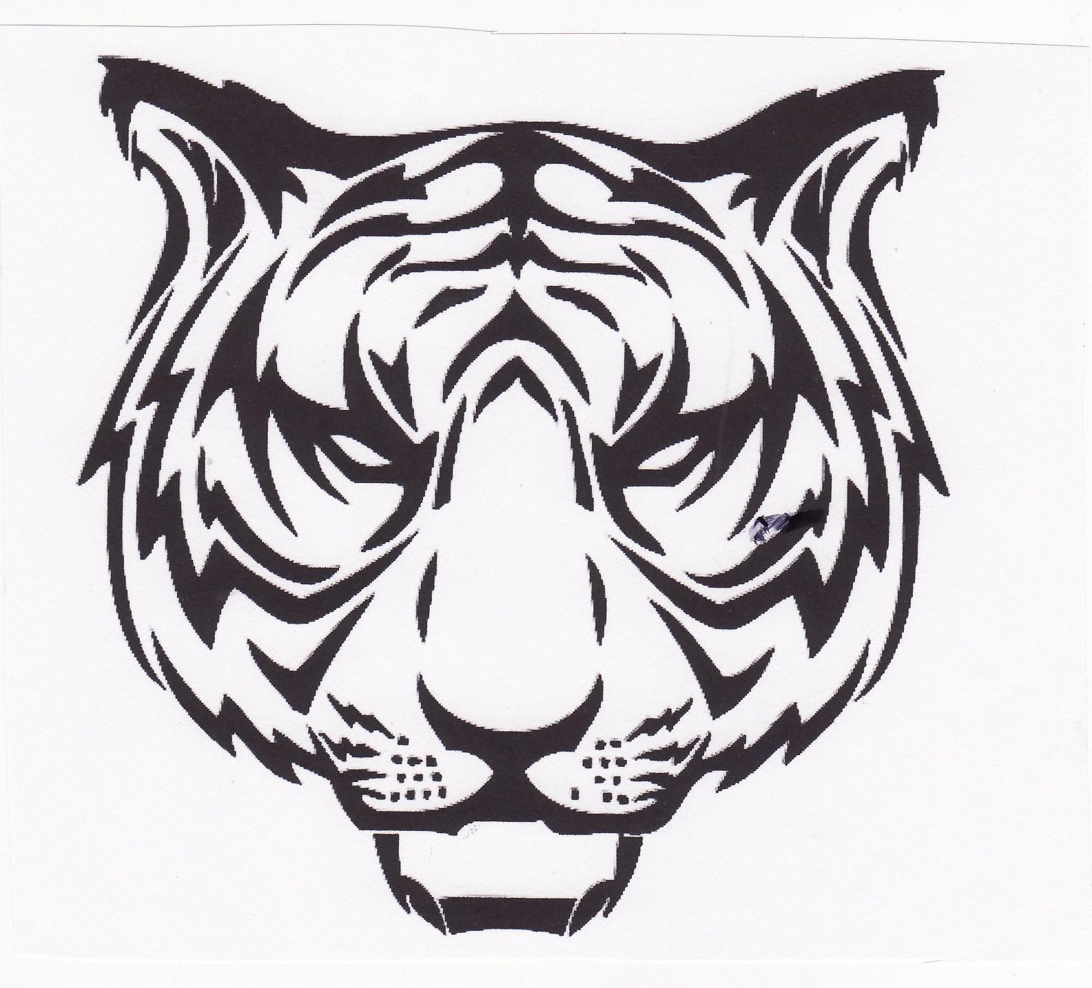 tiger head logo -