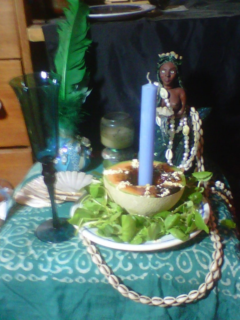 a little vodou altar