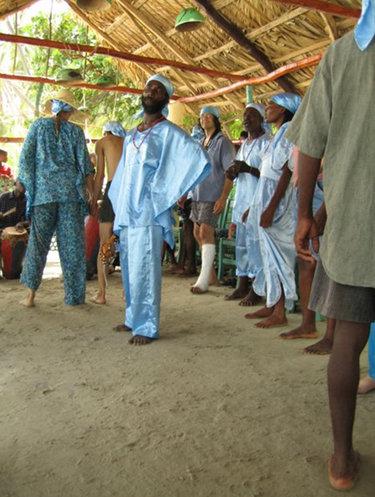 Ceremony to vodou goddess LaSiren on the beach in Haiti