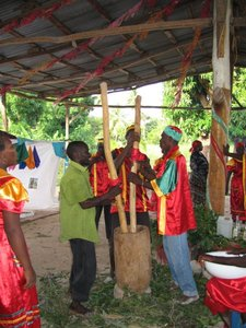 Vodou preparation in Haiti