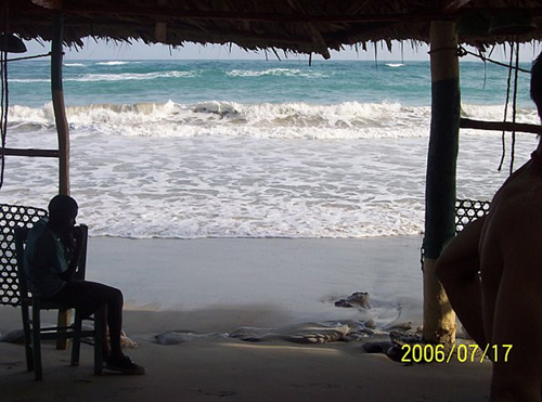 Our beach hut in Haiti
