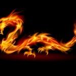 Dragon Magick - Dragon made of flames