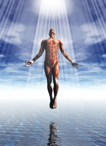 Man being purified representing healing power of energy cleansing kit