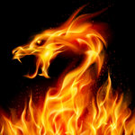 Dragon Magick - Tethatu spiritual empowerment - dragon fire - Dragon head made of flames