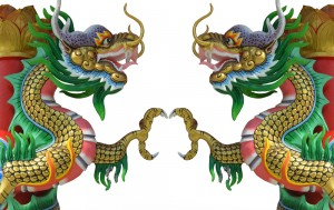 Naga Kembar - Twin dragon protectors used in the science of safety and protection -  Aziz Shamanism