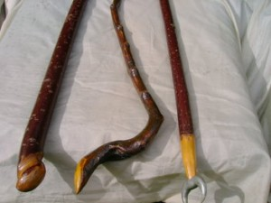 Livewood wands made by shaman Peter Aziz